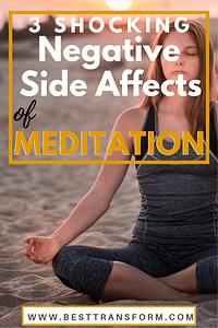 Meditation Negative Side Affects
